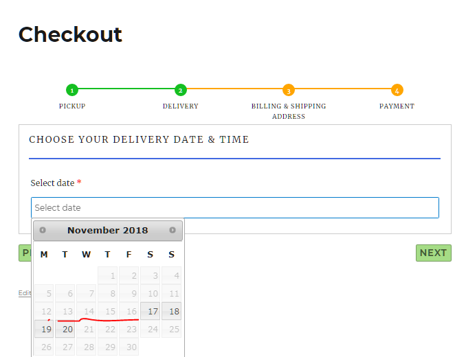 Delivery date selection for mixed type of laundry