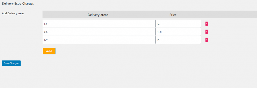 Product Repeat Delivery Dates